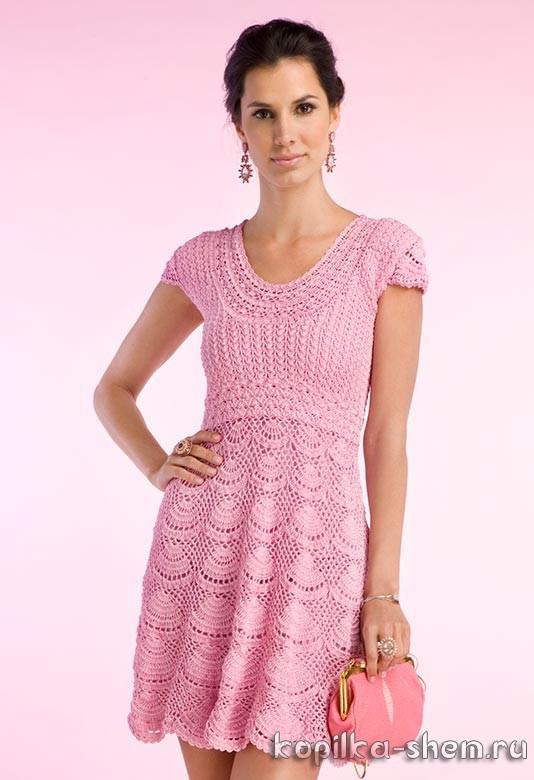 Платье Клариса от Джованны Диас. Схемы вязания
