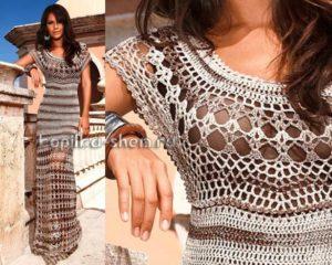 Платье крючком Секрет Клеопатры. Схемы вязания