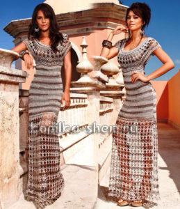 платье крючком секрет клеопатры1