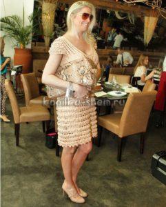 Платье Кейт от Alzira Vieira. Схемы вязания крючком