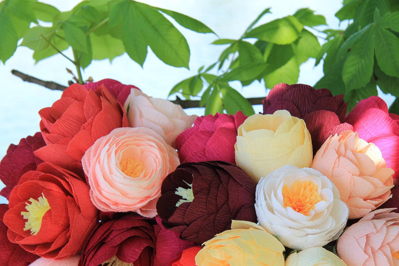 гофрированные цветы пошагово