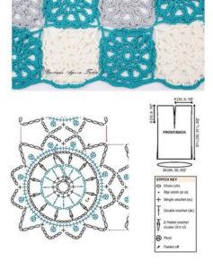 вязание летней туники крючком схемы и описание
