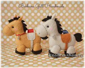 лошадь +из фетра +своими руками