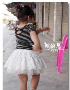 связать юбку для девочки
