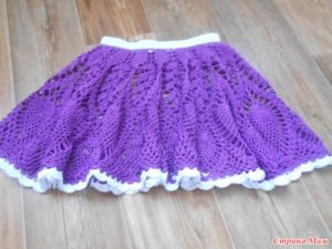 юбка крючком для девочки