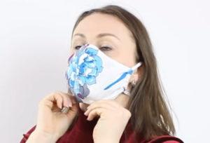 выкройки масок медицинских для лица из ткани