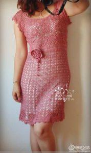 платье крючком описание