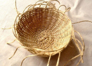 плетеные корзины +из шпагата