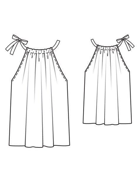 схема летней легкой блузы