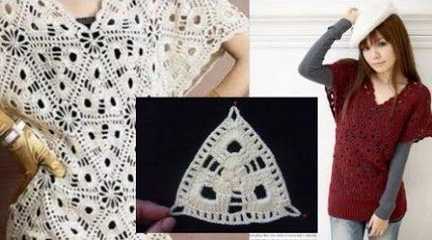 треугольные мотивы крючком со схемами