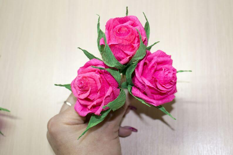 гофрированные цветы +для начинающих