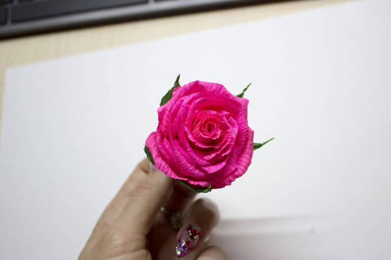 гофрированные цветы +своими руками