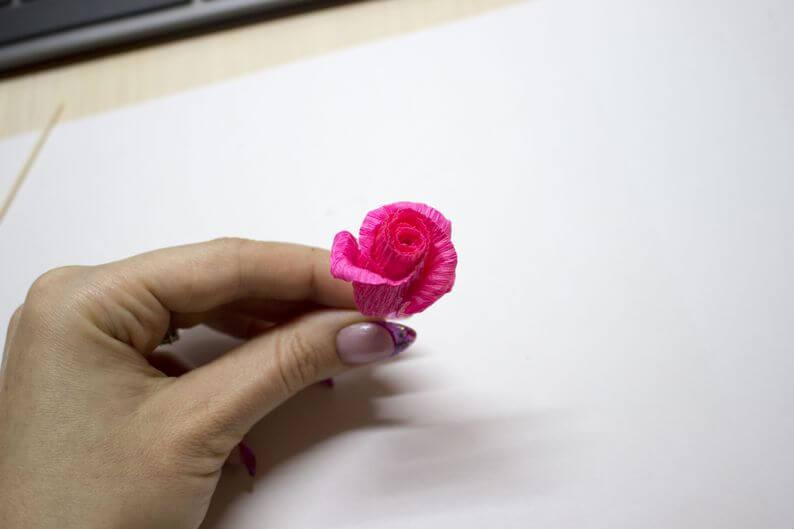 гофр цветок