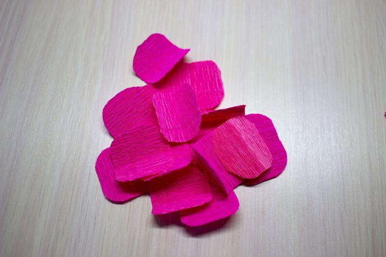 роза +из гофробумаги видео