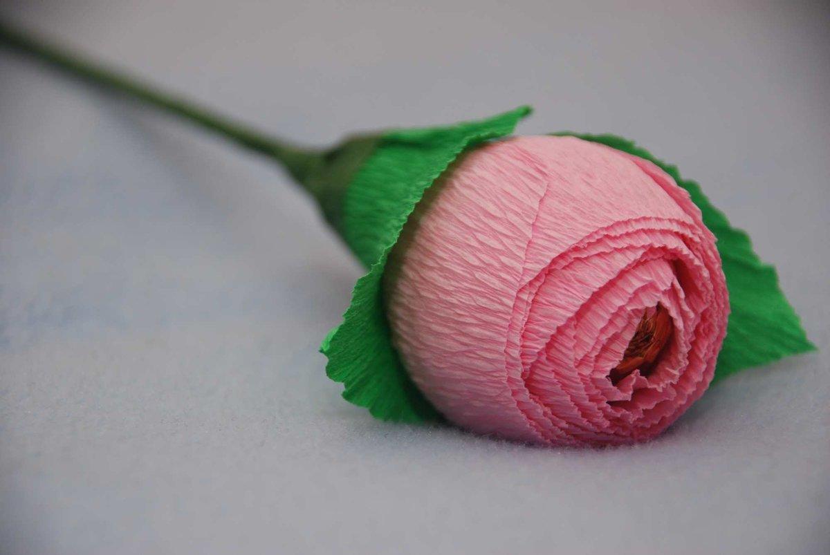цветы +из гофрированной бумаги пошагово