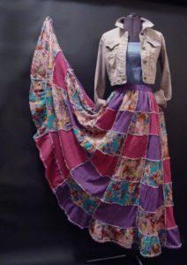 лоскутная юбка в стиле бохо своими руками