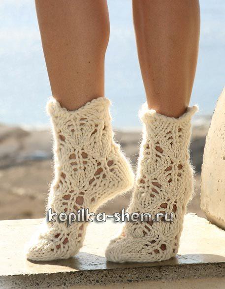 вязать носки +для начинающих пошагово
