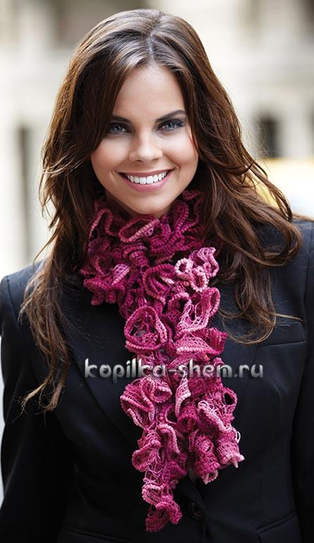 вязанный шарф связать
