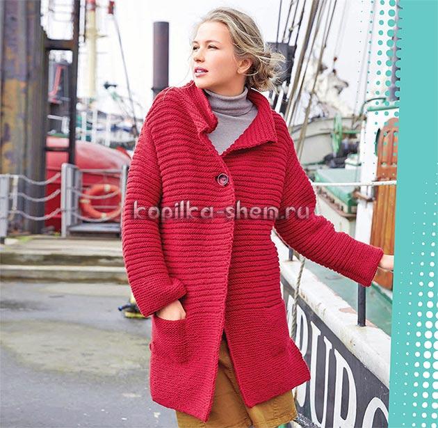 пальто спицами схемы