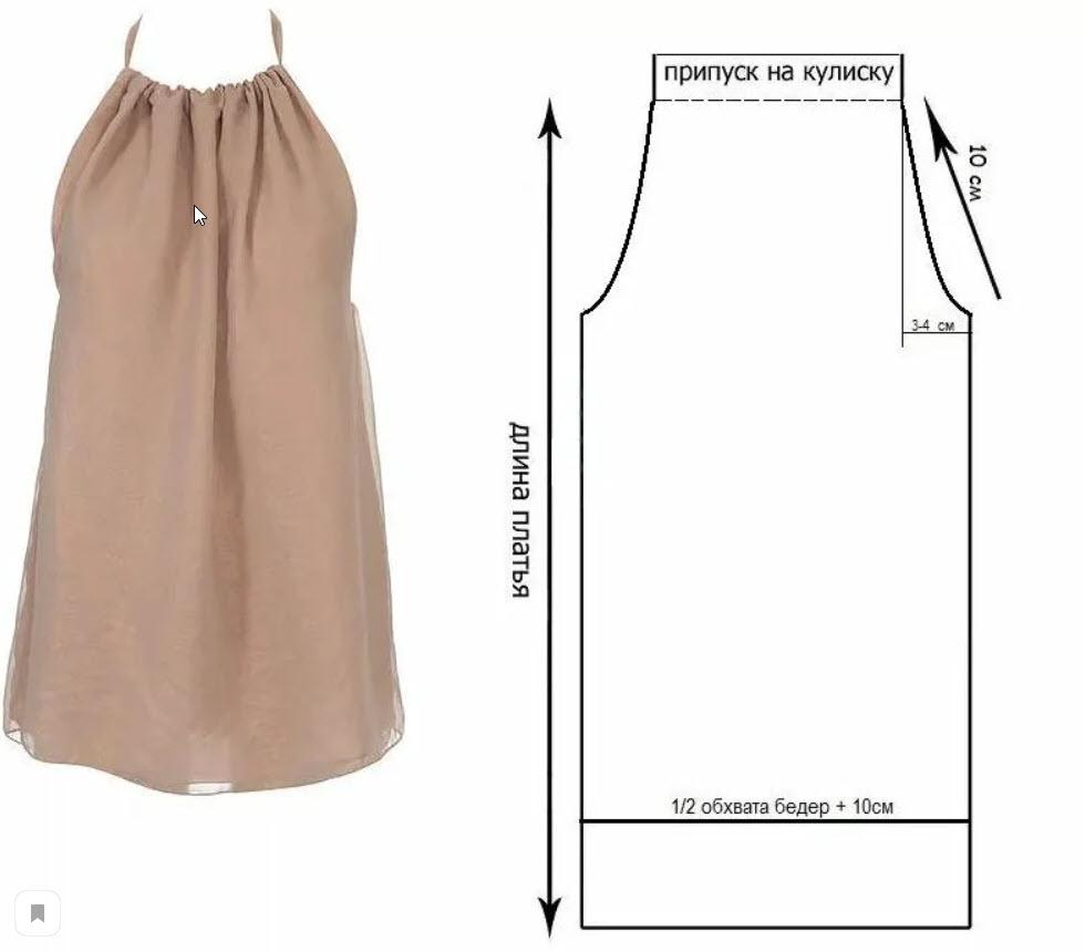платья без выкройки +своими руками +для начинающих