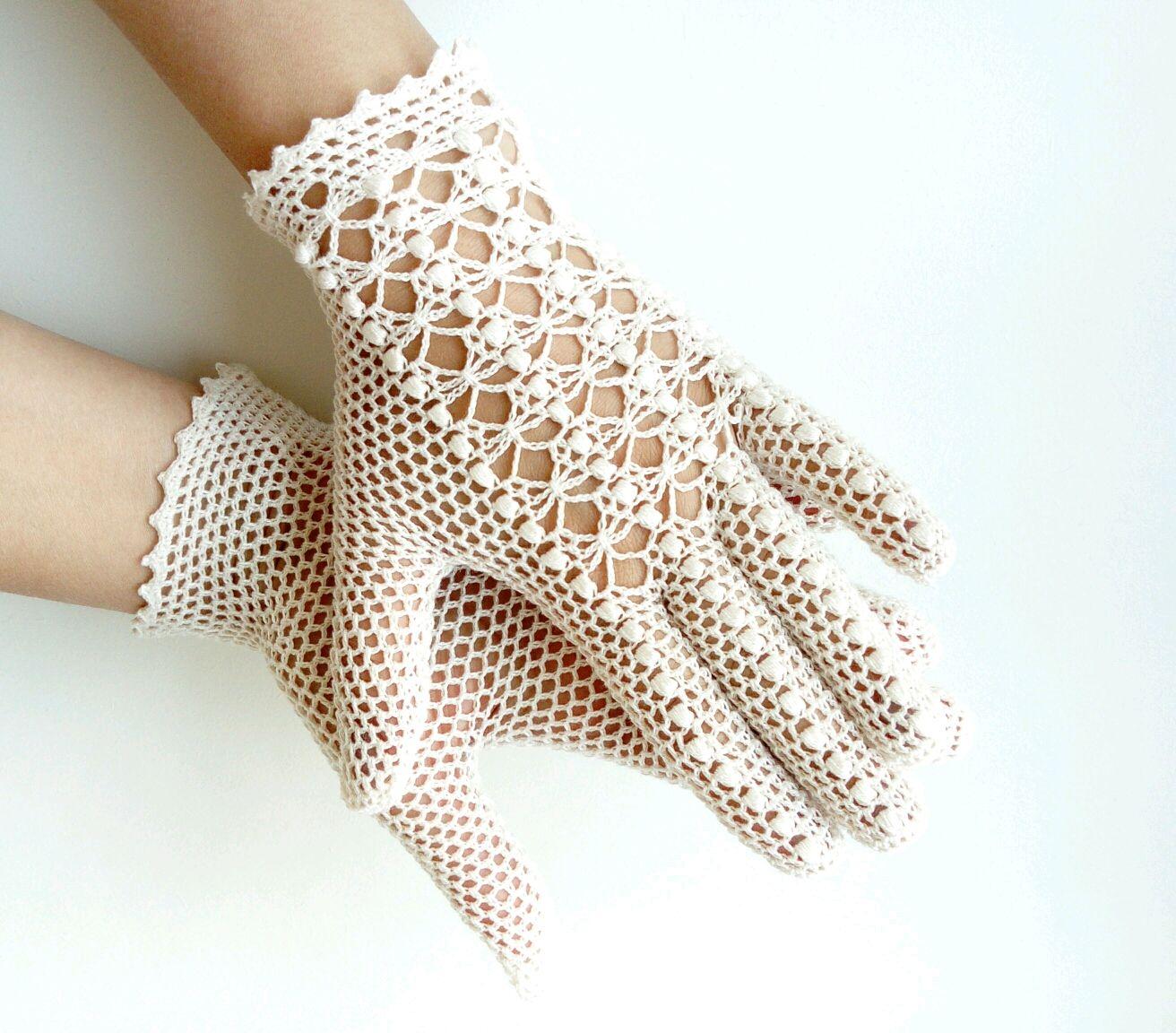летние перчатки крючком