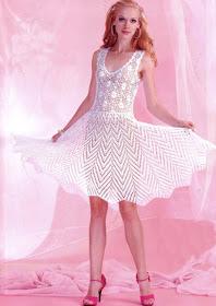 платье крючком схемы +и описание +для женщин