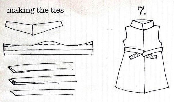 платье +из старой рубашки +для девочки