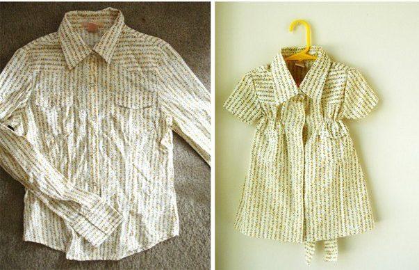 платье рубашка +для девочки