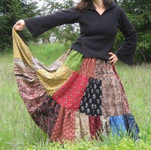 из длинной юбки сшить платье