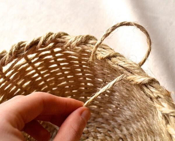 плетеная корзина +с ручкой