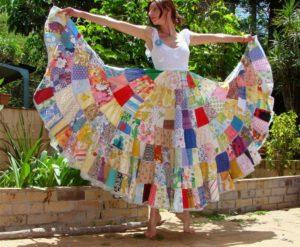 как сшить летние длинные юбки