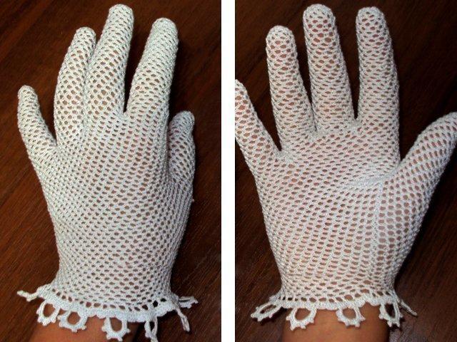 перчатки крючком схема