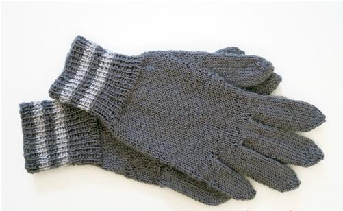 перчатки спицами без