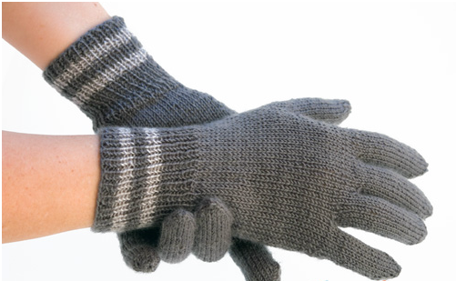 перчатки спицами женские описание