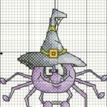 паук схема вышивки