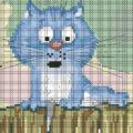 схема вышивки крестом кот