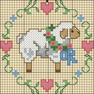 схема вышивки барашек