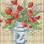 цветы крестиком схемы