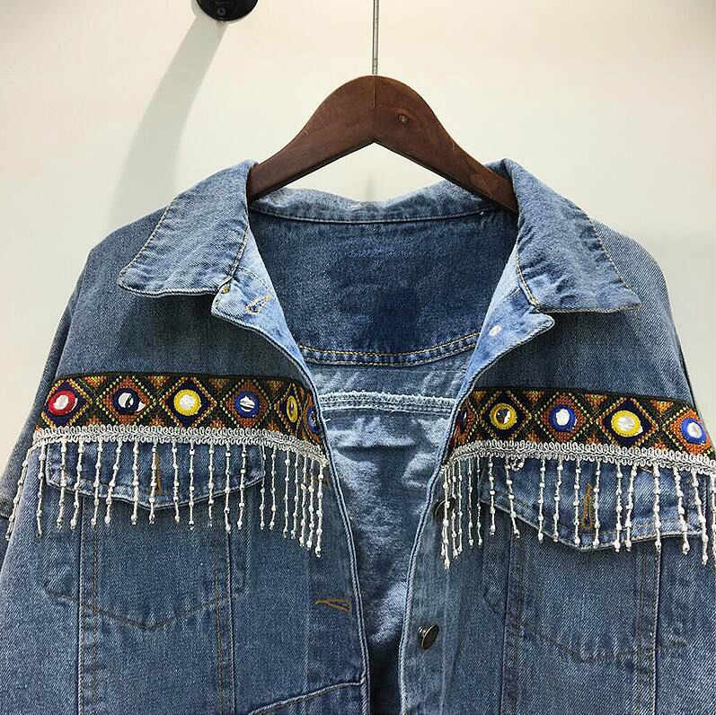 джинсовая куртка +с бахромой