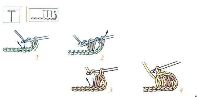 схема Полустолбик с накидом