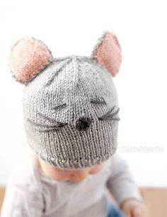 схема детской шапочки спицами