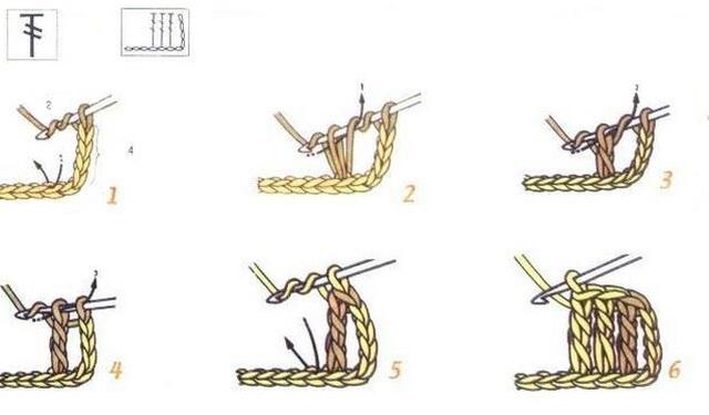 схема Столбик с двумя накидами