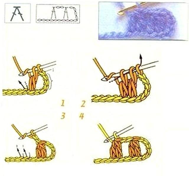 СХЕМА Два столбика с накидом вместе