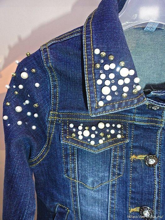 джинсовая куртка стразы