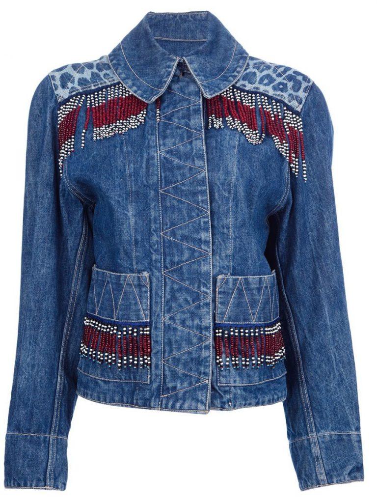 декорируем джинсовые куртки