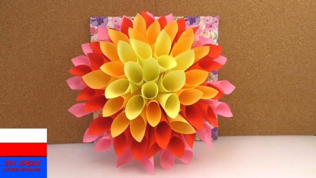 цветы +из бумаги +для украшения