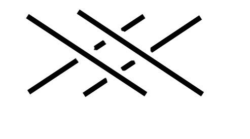перекрещивание лицевых столбиков обозначение на схеме