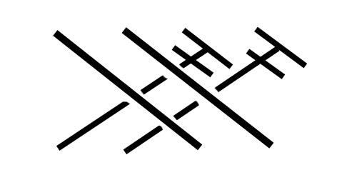 перекрещивание двух лицевых столбиков с двумя столбиками с одним накидом вправо обозначение на схеме