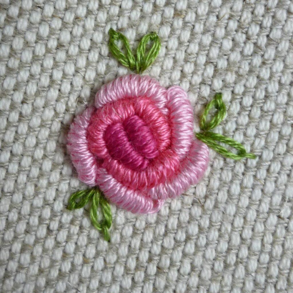техника вышивания рококо