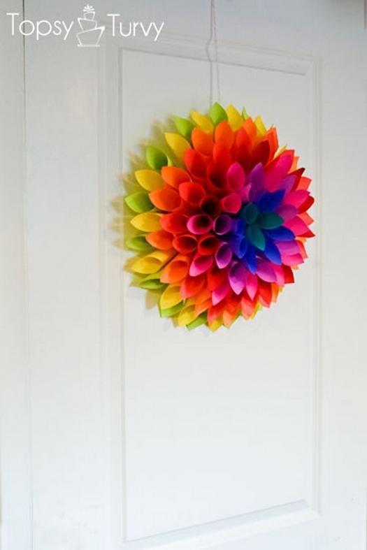 цветок сделать бумага